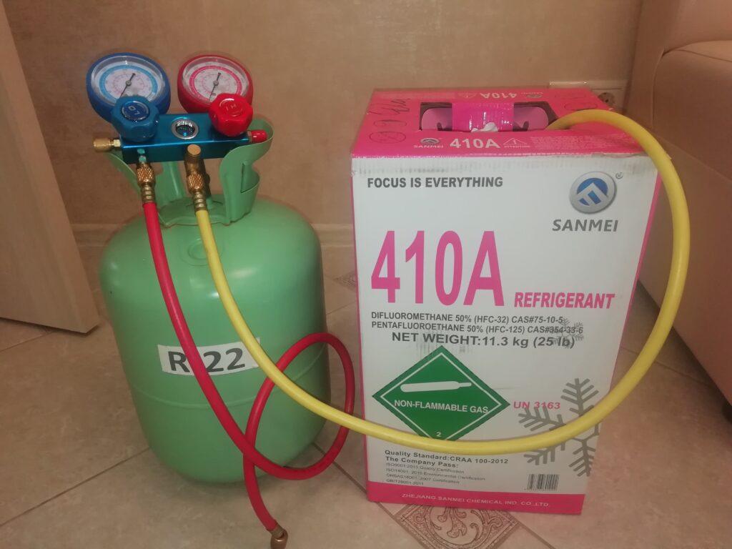 Заправка кондиционеров фреоном R-410A и R-22